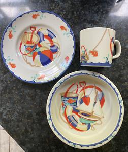 Brand New Tiffany & Company 3 Piece China 'Seashore' Dinner Set