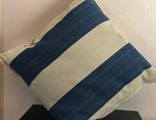 Ralph Lauren Graydon Ticking Stripe ONE Decorative Pillow Dune-Índigo $135