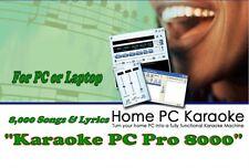 Máquina de karaoke para PC. nuevo 8500 + canciones para computadoras portátiles y 2 programas de jugador &