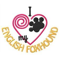 """I """"Heart"""" My English Foxhound Fleece Jacket 1319-2 Size S - Xxl"""