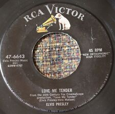 ORIGINAL Elvis Presley Jukebox 45 RCA Love Me Tender b/w Anyway You Want Me