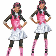 Girls Kids Monster High Draculaura Child Halloween Fancy Dress Costume Party Out
