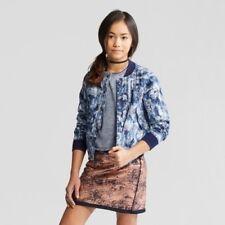 New Girls' Bomber Jacket - art class Blue Xs