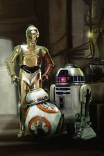 STAR WARS VII FORCE AWAKENS GEORGE LUCAS WALT DISNEY C-3PO R2-D2
