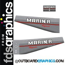 Mariner 10hp Magnum outboard decals/sticker kit