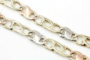 Gold Armband 585 Tricolor 14K Länge 19,5cm Breite 5,0mm Gewicht 10,50g