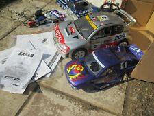 Cen Fun Factor Nitro Car Peugeot 206 WCR + 2 spare Body Shells1:10 Scale.