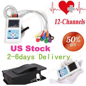 12 Channel ECG Holter ECG/EKG 24H Holter EKG Monitor+ Software,TLC5000,HOT sale