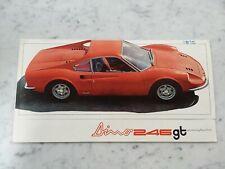 ORIGINAL FERRARI 246 GT SALES BROCHURE