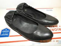 KOKRS BY KORK EASE JULIE Women's Ballet Flats Shoes Black Leather Size 11 Great