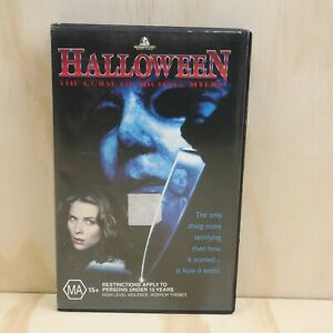VHS Movie - Halloween The Curse of Michael Myers - PAL - VHS + Box