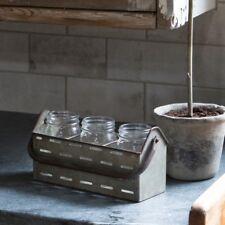 FARMHOUSE ICED TEA DRINK CADDY HOLDER FLOWER JAR by Park Hill Collection FH1071