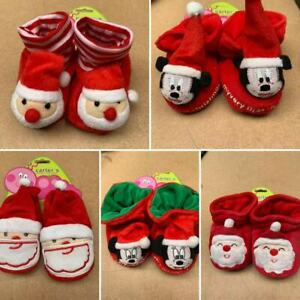 Baby Christmas Bootees, Slippers, Padders, Boots Santa Shoes 6 - 12 months
