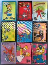 THE SIMPSONS SKYBOX 1993 Series1 Wiggle Card Complete Set Of 9 Rare