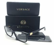 Versace Black Eyeglasses MOD 3184 GB1 54 mm Shiny w Gold