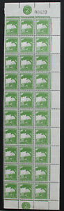 Palestine Pictorials, 3m, 30 MLH Stamps with Two Pate Blocks, Folded  #a414