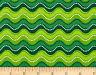 FAT QUARTER FABRIC  HOLLY JOLLIES GREEN WAVY STRIPE QUILTING TREASURES COTTON FQ