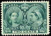 Canada #52 mint VF/XF OG NH 1897 Queen Victoria 2c green Diamond Jubilee