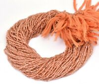 """13"""" Strand Natural Sunstone Micro Cut Faceted Rondelle Gemstone Beads 2 mm AAA"""