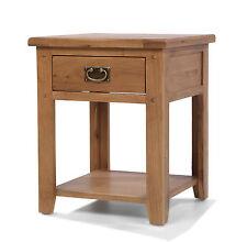 Rustic Oak Side Lamp Table Bedside Cabinet | Aylesbury Range