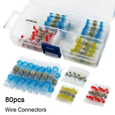 80pcs Solder Seal Heat Shrink Butt Wire Connector Terminal Waterproof 4 Size AU