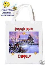 sac shopping noël sac à commissions sac à cadeaux joyeux noel réf 204