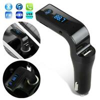 Handsfree Bluetooth For Auto USB Charger FM Transmitter Radio MP3 Player Access