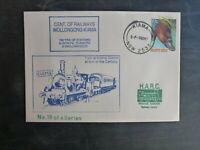 1987 CENT. OF RAILWAYS WOOLONGONG-KIAMA LINE SOUVENIR CACHET COVER