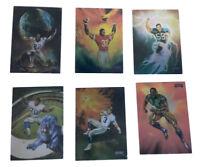 1994 Playoff Football- Julie Bell Art 6 Card Set