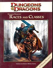 JDR RPG JEU DE ROLE / D&D 4 / DUNGEONS ET DRAGONS 4 RACES AND CLASSES