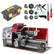 600W Mini Metal Lathe Automatic Wood Drilling Turning Machine 7''×12'' Benchtop