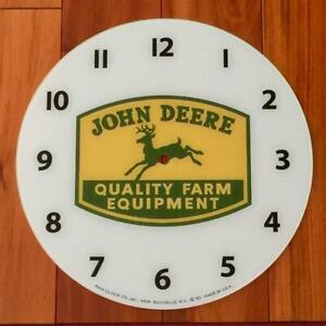 """NEW 14-3/8"""" John Deere Round Replacement Face for Pam Clock"""