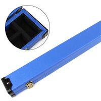 Superb BLUE SNAKE SKIN 3/4 Pool Snooker Cue Case - 116 Max Shaft