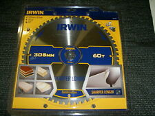 Irwin 1897435 Construction Circular Saw Blade 305 x 30mm x 60T ATB/Neg M