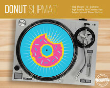 "Donut Turntable Slipmat - 12"" LP Record Player, Simpsons DJ Slipmat"
