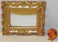 Dollhouse Miniature Mirror Gold Frame Falcon Minis 1:12 Scale