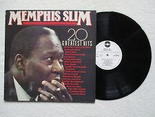 "LP 33T MEMPHIS SLIM ""20 Greatest hits"" CLEO MA 0023983 HOLLAND §"