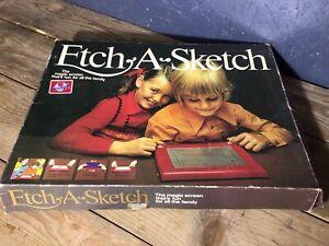 Vintage Etch A Sketch 1970s Original Box