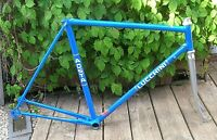 """Italian Road frame by Lucchini  """"Aosta""""  70s 57cm repainted"""