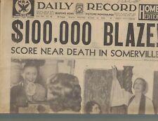 Boston Daily Record October 14 1933 Machine Gun Kelly Pretty Boy Floyd Tarzan