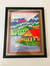 100% Handmade framed Wall Art (Wool Stitched/ 38 x 30 cm)