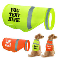 Personalized Dog Reflective Vest Hi Vis Pet Safety Vest Custom Printed Harness