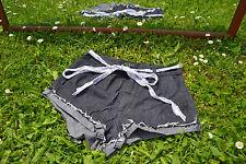 GUESS Femme Taille Haute Pantalon Noir Jeans détresse Short Personnalisé Sz 28 M56