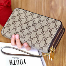 Double Zipper Wristband Long Clutch Wallets For Women Large Capacity Card Holder