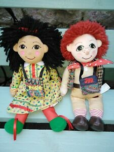 Rosie and Jim ragdoll soft toys (plush, kids tv characters, narrow boat)