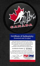BOB PROBERT CHICAGO BLACKHAWKS TEAM CANADA CUP PUCK SIGNED AUTOGRAPHED PSA/DNA