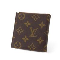 Louis Vuitton bi-fold wallet Monogram beige monogram canvas Auth used T18040