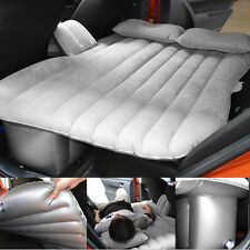 US Gray Auto Car Inflatable Air Cushion Seat Rest Sleep Bed Mattress Outdoor Set
