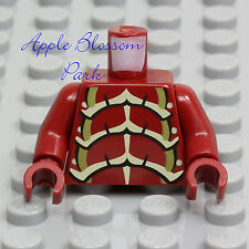 NEW Lego Space Alien Bug DARK RED MINIFIG TORSO -Insect Hands Exo-Skeleton Armor