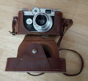 Vintage Argus 35mm C-Four Rangefinder Camera with Leather Case